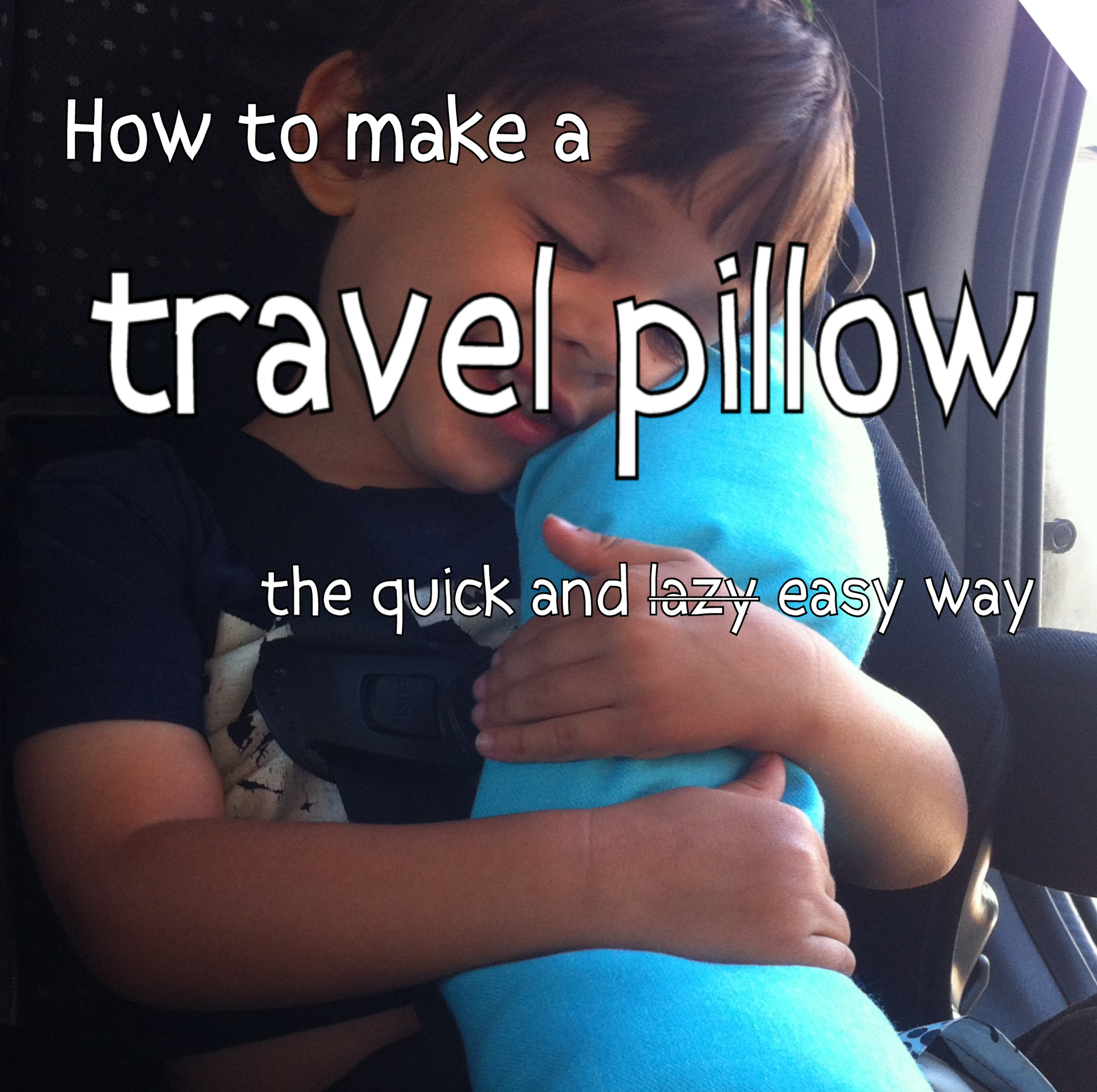 how to make a travel pillow for a car seat